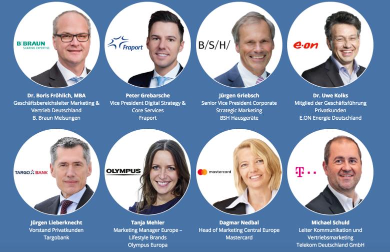 8 von vielen Marketing Experten welche am Marketing Tag ihr Know-How mit Teilnehmern teilen werden.
